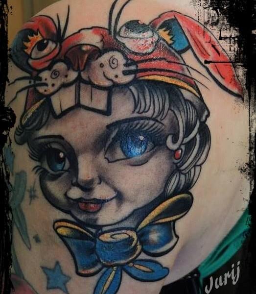 Tattoo-Fantasie-Porträt