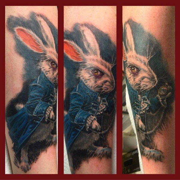 Tattoo-Weißer Hase
