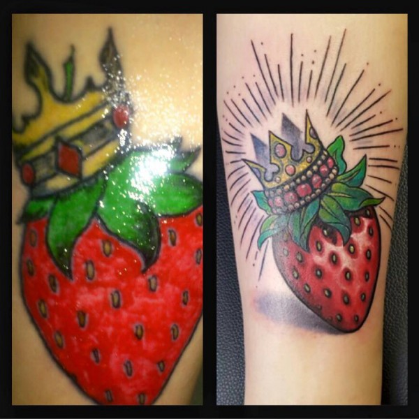 Tattoo-Erdbeere