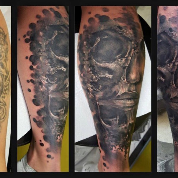 Tattoo-Gesicht