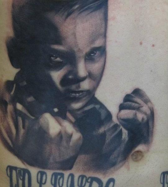 Tattoo-Kinderporträt