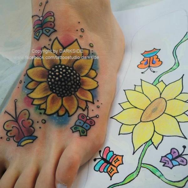 Tattoo-Sonnenblume