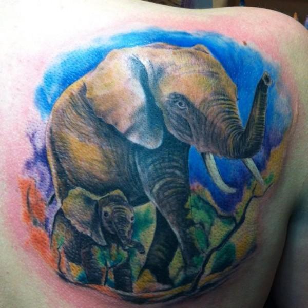 Tattoo-Elefant
