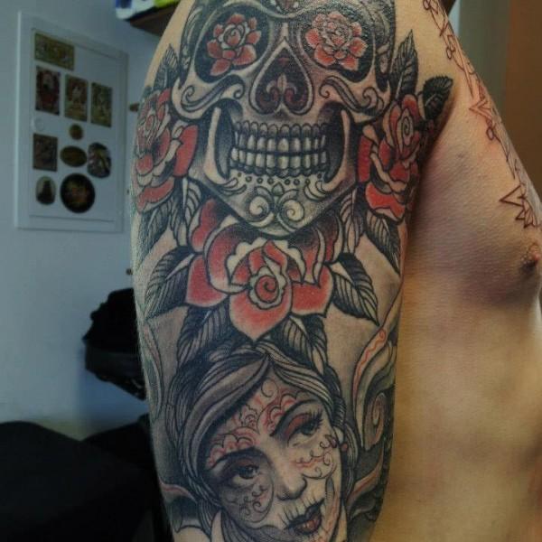 Tattoo-Totenkopfe