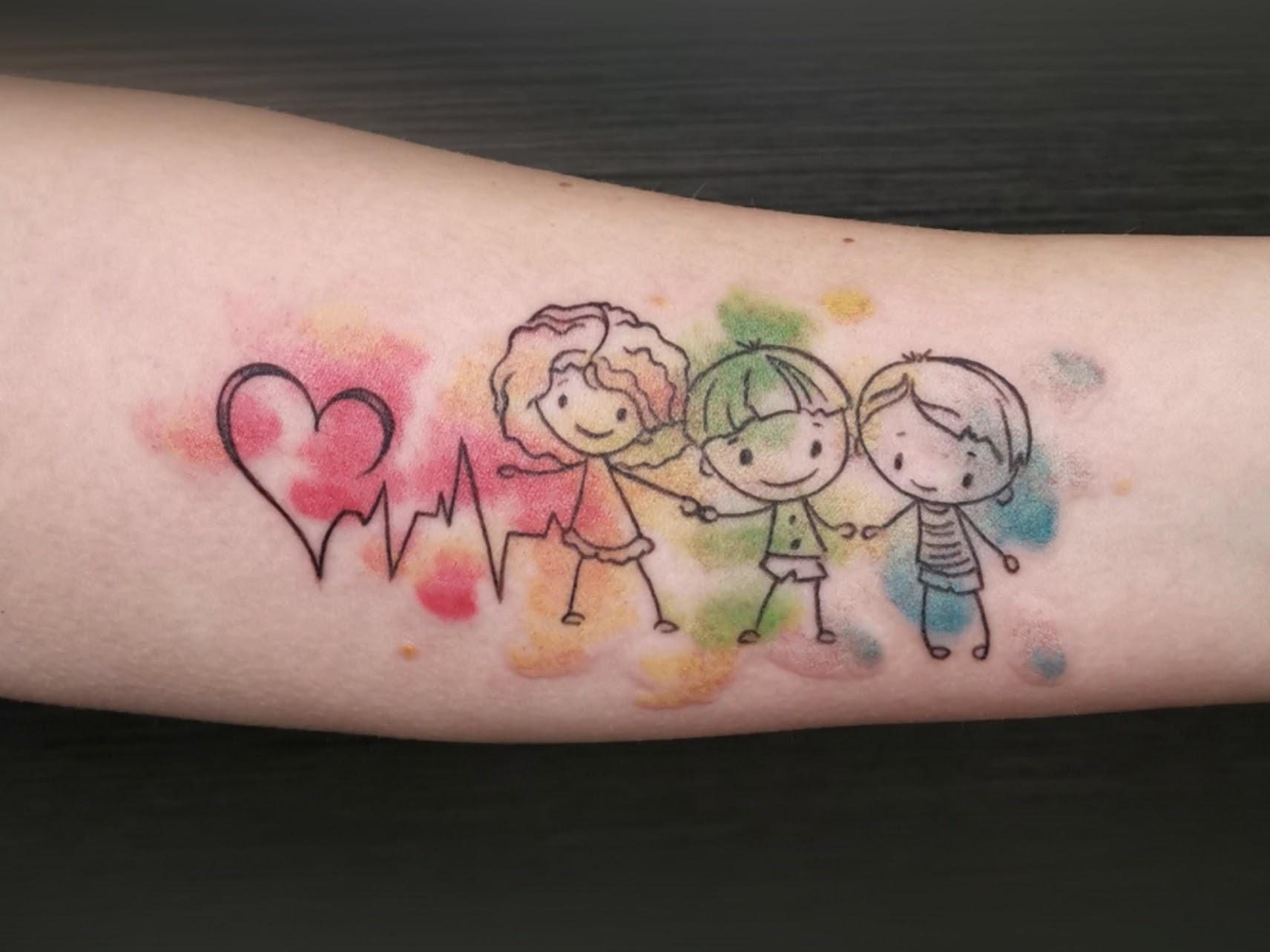 Tattoo-Zeichnung Kinder