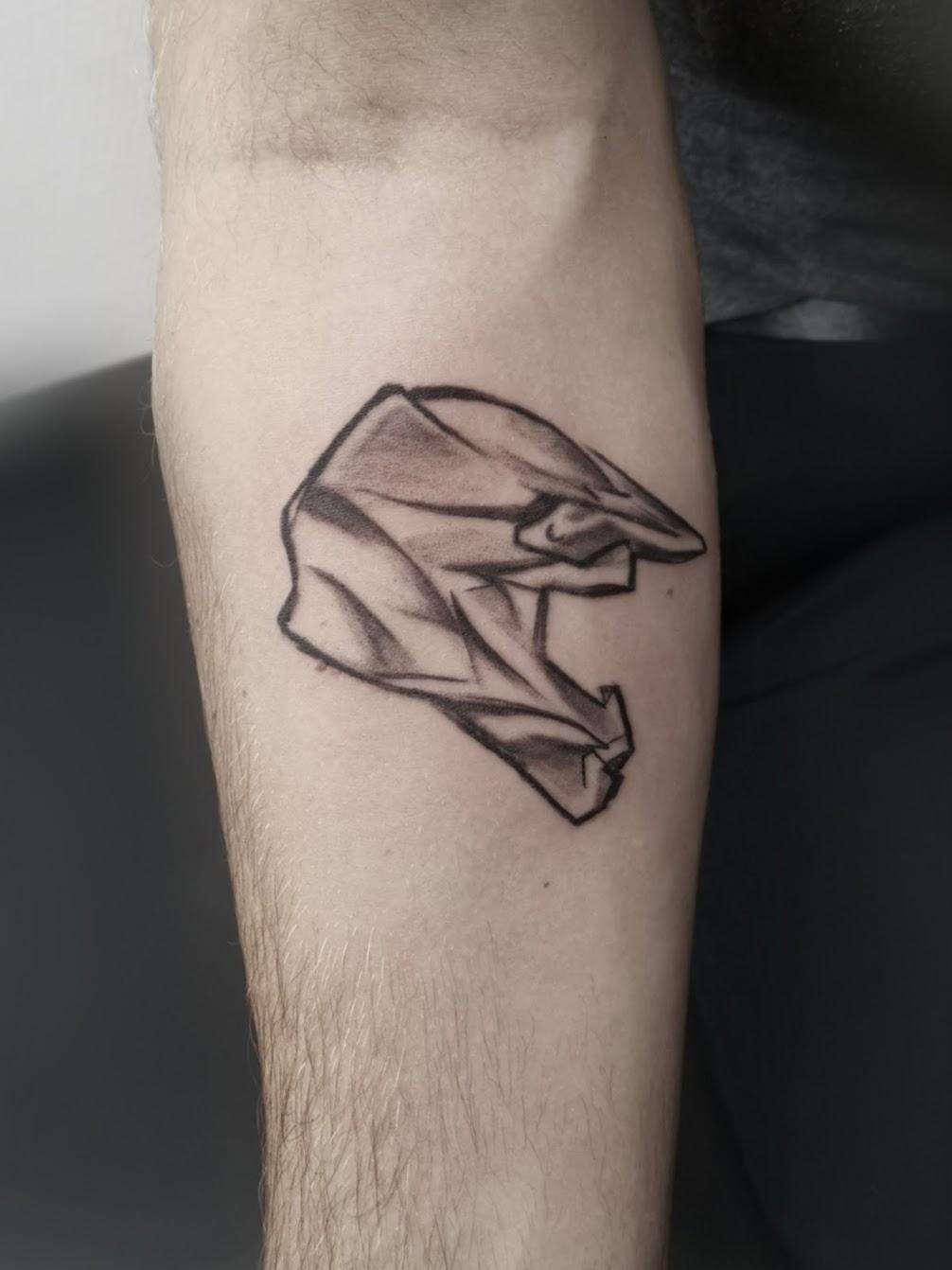 Tattoo-Motorradhelm