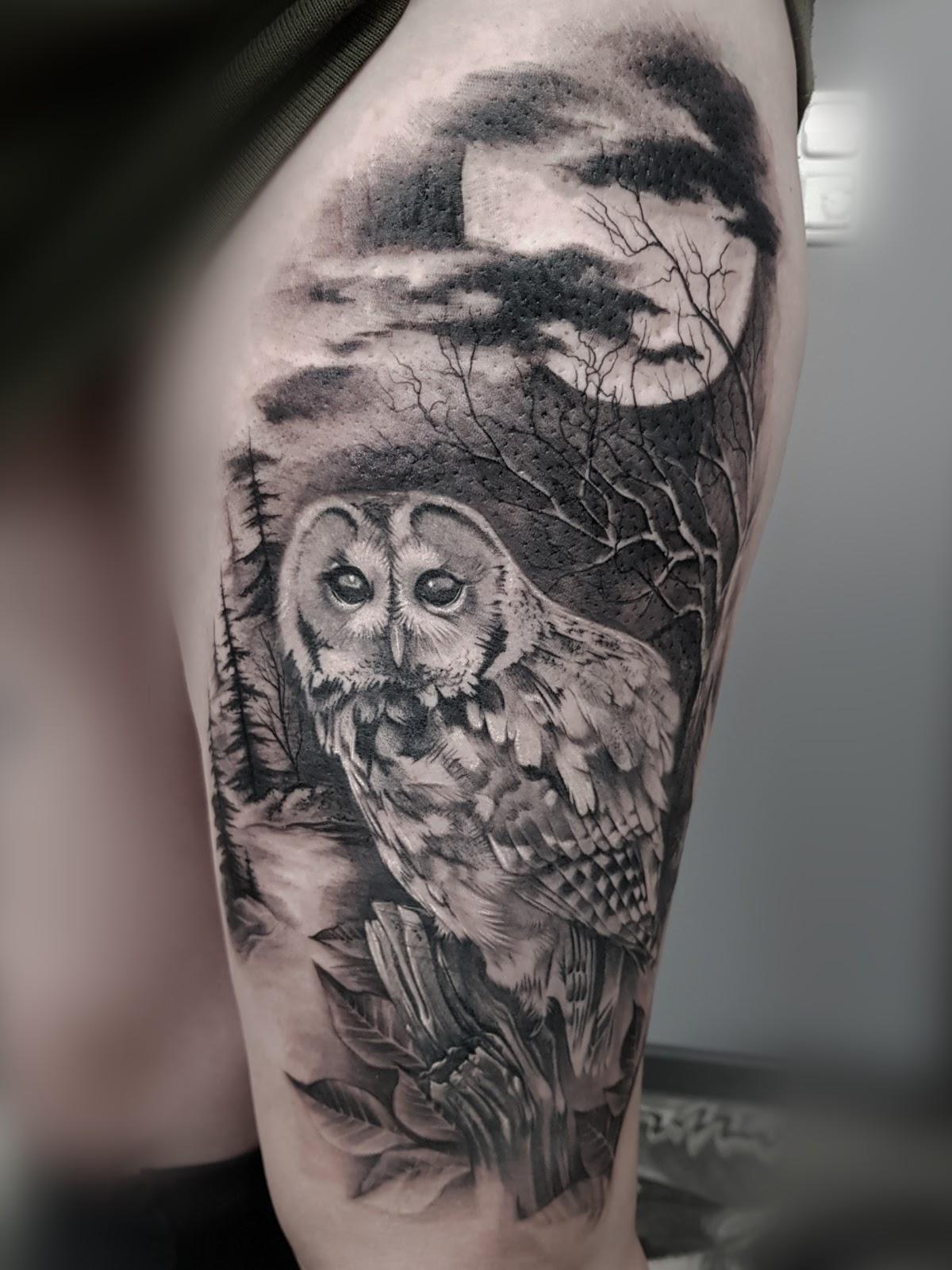 Tattoo-Eule