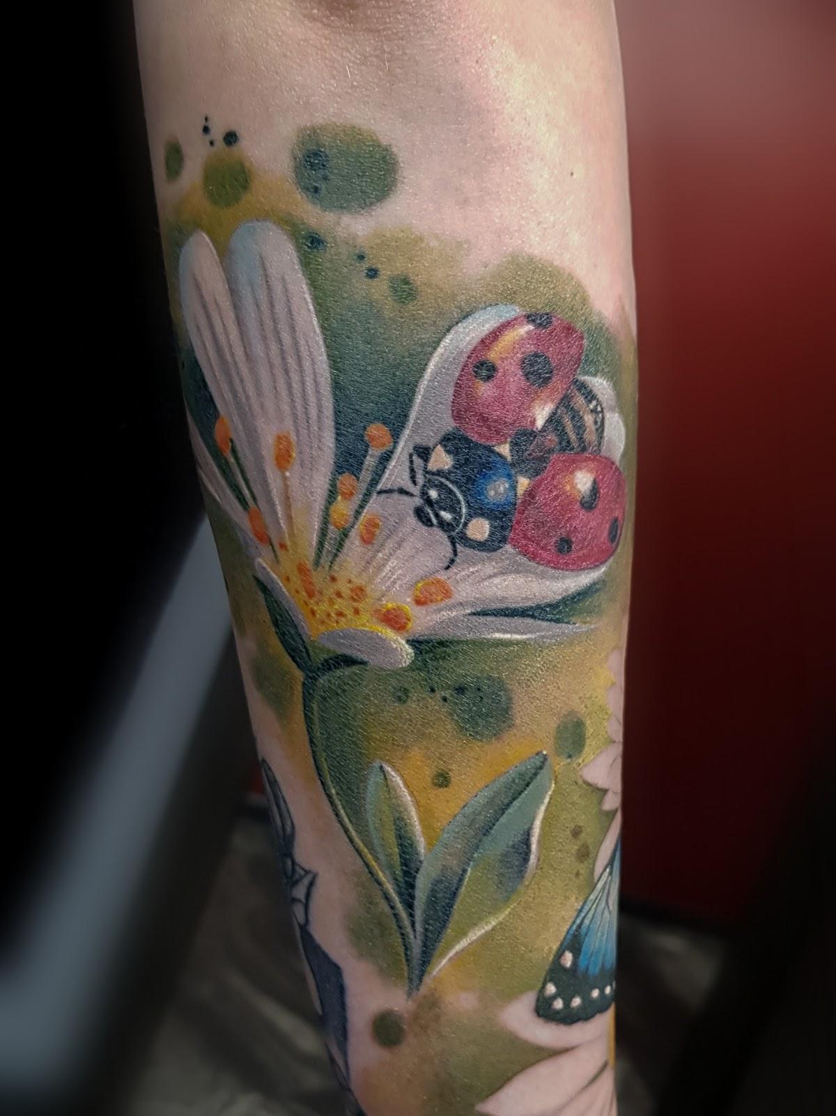 Tattoo-Marienkaefer