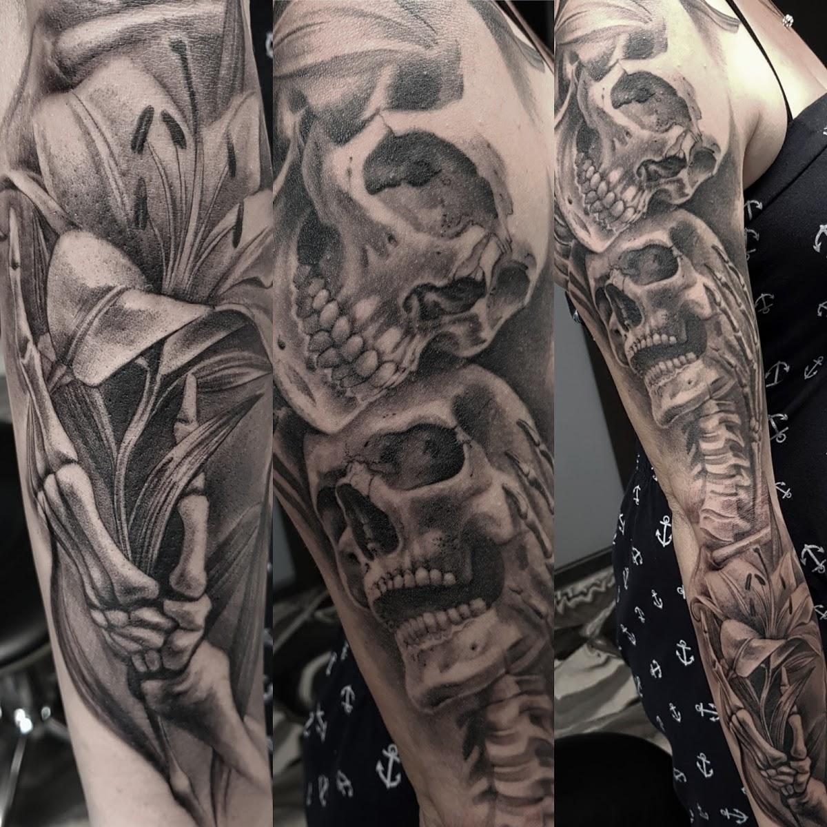 Tattoo-Totenkoepfe