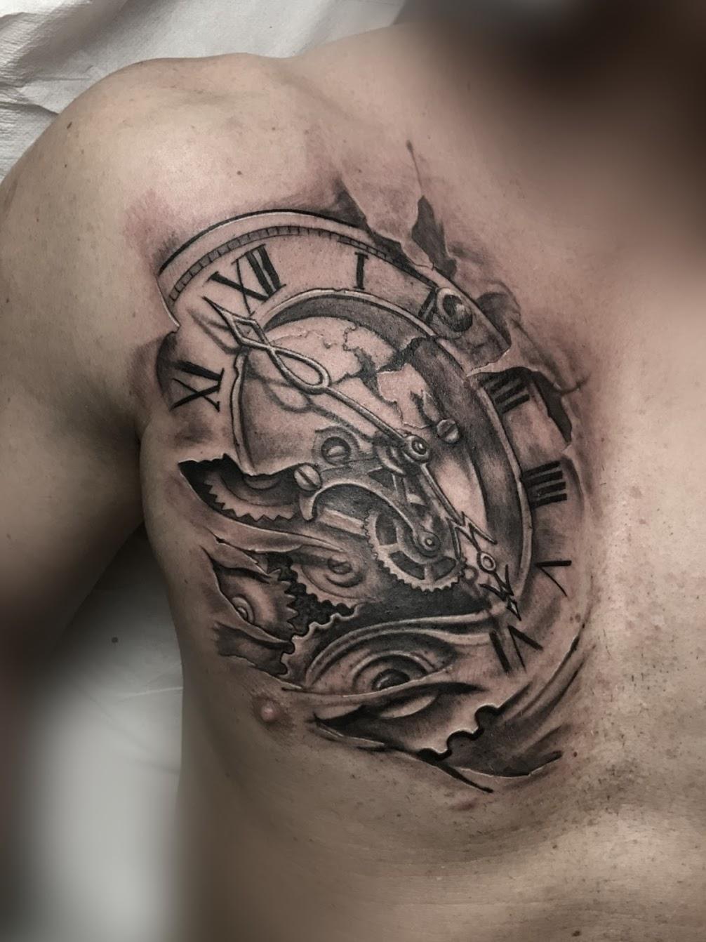 Tattoo-Uhr