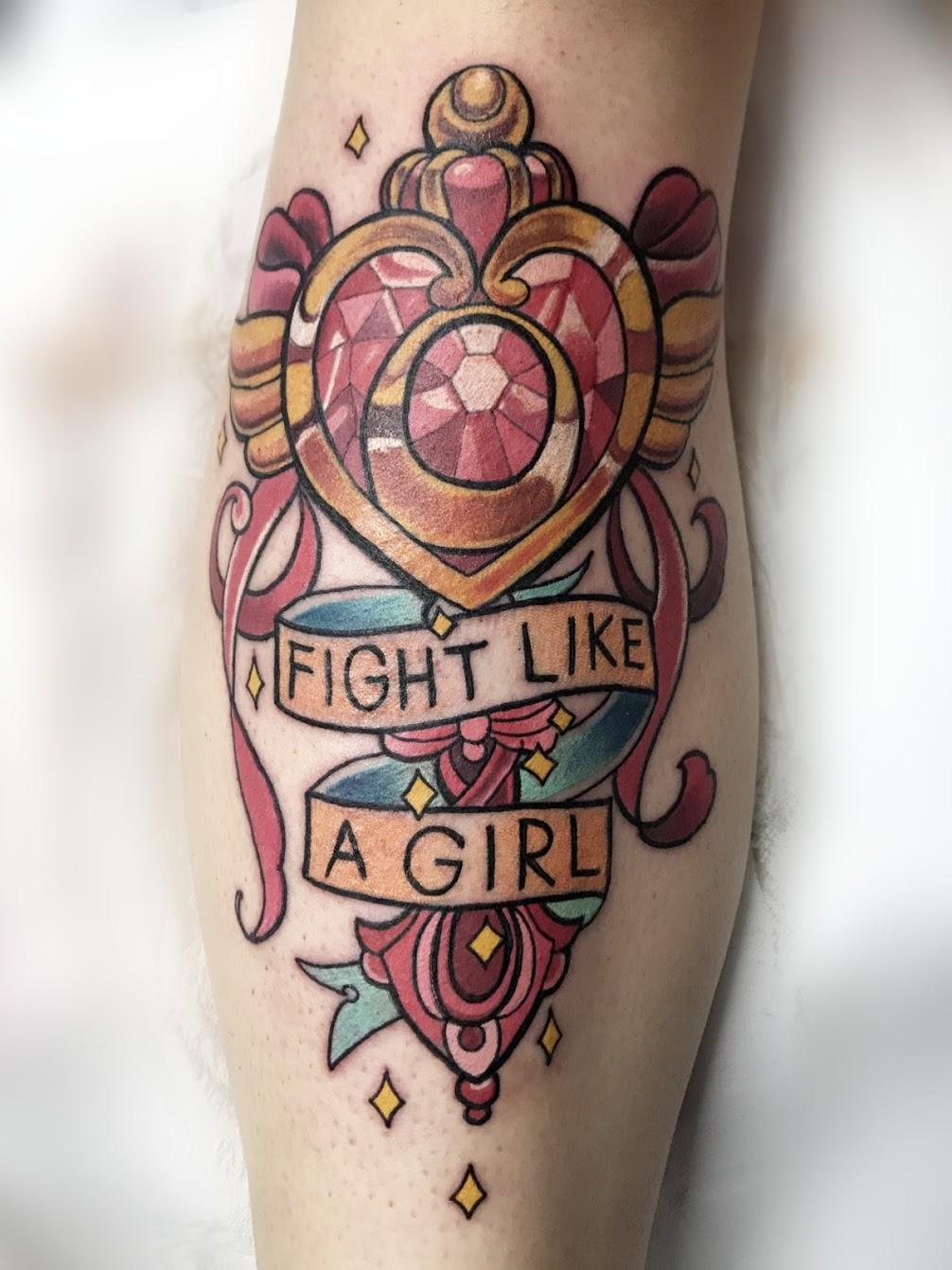 Tattoo-Fight-like-a-girl